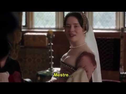 "Claire Foy as Anne Boleyn - S1E1 - Wolf Hall  - Meeting ""Cremuel""."