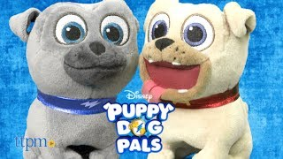 Disney Junior Puppy Dog Pals! Pet and Talk Pals Bingo and Rolly. 4.5-inch talking stuffed dogs! Plush toys bark, and talk. Collect them both! TTPM reviews these cute toy dogs. For full review and shopping info► https://ttpm.com/p/24082/just-play/puppy-dog-pals-pet-and-talk-pals-rolly/?ref=ythttps://ttpm.com/p/24083/just-play/puppy-dog-pals-pet-and-talk-pals-bingo/?ref=ytProduct Info: Puppy Dog Pals Pet and Talk Pals Bingo and Rolly from Just Play are inspired by the adventurous brothers, and main characters on the Disney Junior CG-animated series, Puppy Dog Pals. These cute 4.5-inch stuffed dogs bark, and talk. Two button cell batteries are included with each. To activate the toys, pet the pups' backs. With each pet, which is actually the push of a button on the dog's back, he will either bark or say a phrase from the Disney Junior series. The packaging doesn't say how many phrases but we counted three each plus barks, and some giggles from Rolly. Each talking pup is sold separately, and it would be fun to collect them both for creating storylines with both puppy brothers together. ✮SEE MORE TOYS✮ARTSPLASH 3D LIQUID ART:https://ttpm.com/p/23570/mattel/artsplash-3d-liquid-art/?ref=ytDC SUPER HERO GIRLS FROST:https://ttpm.com/p/23551/mattel/dc-super-hero-girls-frost/?ref=ytMARVEL SPIDER-MAN SWING AND SLING SPIDEY: https://ttpm.com/p/23125/just-play/marvel-spiderman-swing-and-sling-spidey/?ref=yt✮SUBSCRIBE TTPM Toy Reviews✮https://www.youtube.com/c/ttpm✮SUBSCRIBE TTPM Baby Gear Reviews✮https://www.youtube.com/c/ttpmbaby✮SUBSCRIBE TTPM Pet Toys & Gear Reviews✮https://www.youtube.com/c/ttpmpets✮SUBSCRIBE TTPM First Look Toys Unboxing✮https://www.youtube.com/c/ttpmfirstlooktoys✮FOLLOW US✮Facebook: https://www.facebook.com/TTPMOfficialTwitter: https://twitter.com/ttpmInstagram: https://instagram.com/ttpmofficial/Pinterest: https://www.pinterest.com/ttpmofficial/Snapchat: TTPMOfficial: https://www.snapchat.com/add/ttpmofficial✮FOLLOW TTPM Baby✮Facebook: https://www.facebook