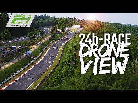 Wahnsinnige Drohnen-Aufnahmen der 24 Stunden vom Nürb ...