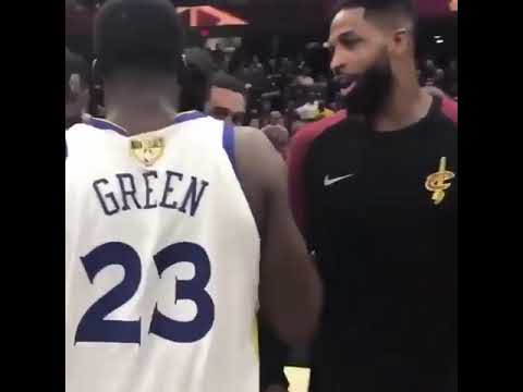 Draymond Green said i don't fuck with you to Tristan Thompson