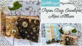 Paper Bag Envelope Mini Album - This Vintage Parisian Style Paper Bag Envelope Mini Album was created as one of my...