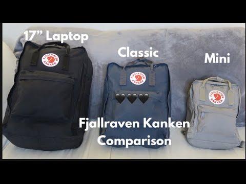 "Fjallraven Kanken 17"", Kanken Classic, Kanken Mini Review/Comparison 2018"