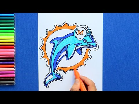 How To Draw The Miami Dolphins Logo (NFL Team)