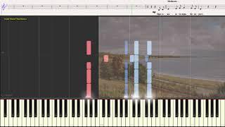 Тоска по Родине - Пётр Лещенко (Ноты и Видеоурок для фортепиано) (piano cover)
