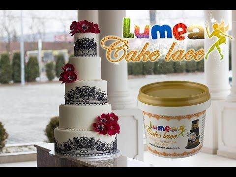 Pudra dantela alba, 250g - Lumea Cake Lace