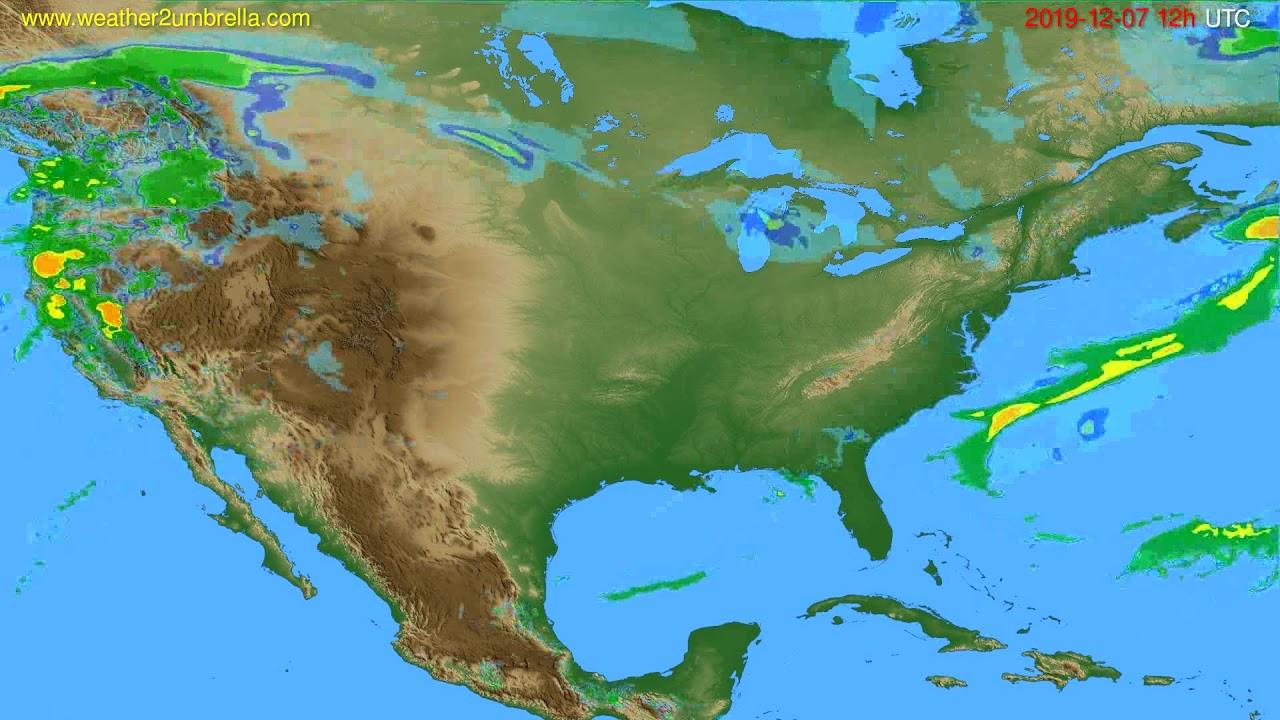 Radar forecast USA & Canada // modelrun: 00h UTC 2019-12-07