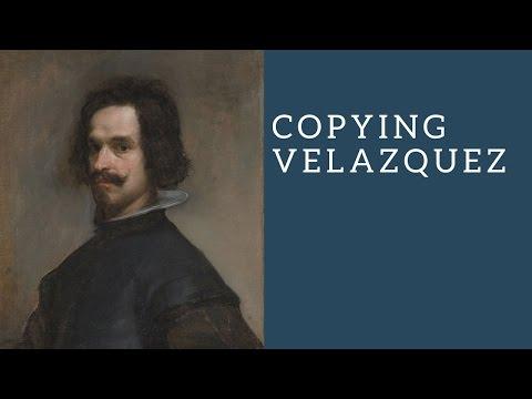 Copying a Velazquez - Painting a classical portrait in oils