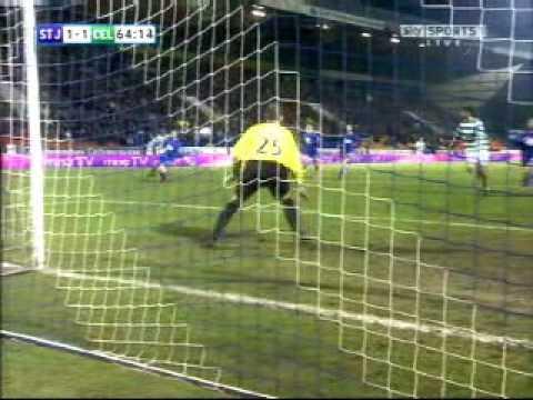 St Johnstone 1-4 Celta 24/01/10 gol de  Marc Antoine fortuna