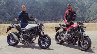 5. 2017 Suzuki SV650 vs Yamaha FZ-07 | On Two Wheels