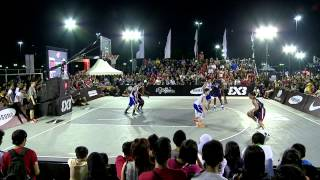 Relive the action from the game of the FIBA 3x3 U18 World Championships staged in Jakarta on 28 september 2013 between ...