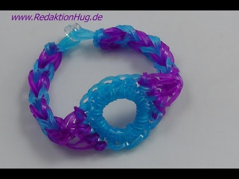 Loom Bands ohne Rainbow Loom Anleitung Deutsch A 19