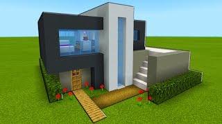 "Minecraft Tutorial: How To Make A Modern House 2019 ""Easy Modern House Tutorial"""