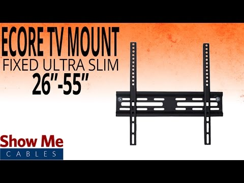 How To Install The Ultra Slim TV Mount For TV's Between 26