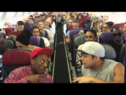 What happens when the cast of the 'Lion King' is at 30,000 feet?