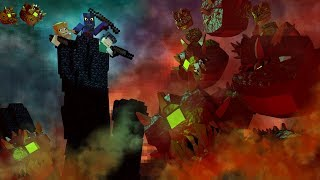 Minecraft | DEMON BASE DEFENSE - Helping Kraken Kid And Selena Survive!! (Base Defense Challenge)