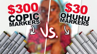 Video WHAT'S THE DIFFERENCE?! | Cheap Vs. Expensive Markers | Side-by-Side Demo | Ohuhu v. Copic MP3, 3GP, MP4, WEBM, AVI, FLV Desember 2018