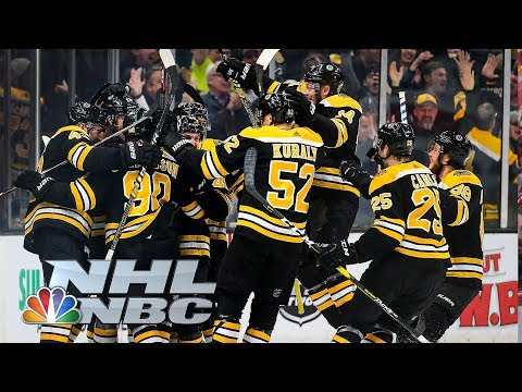 NHL Stanley Cup Playoffs 2019 Blue Jackets vs. Bruins  Game 1 Highlights  NBC Sports