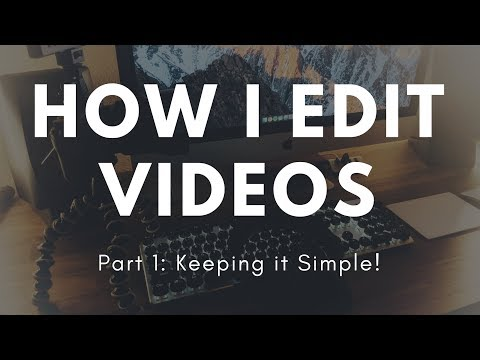 How I Edit My Videos Part 1! - Basics (видео)