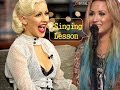 "Christina Aguilera attends ""Singing Lesson"" by Demi Lovato"