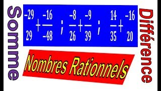 Maths 3ème - Les nombres rationnels Addition et Soustraction Exercice 27