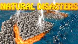 Minecraft   NATURAL DISASTERS MOD Showcase! (Earthquake, Volcano, Meteor)