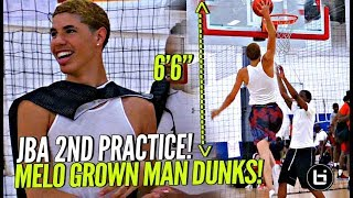 LaMelo Ball Dunking TOO EASY at 2nd JBA Practice!! LEGIT 6'6