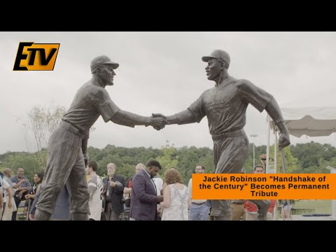 """Jackie Robinson """"Handshake of the Century"""" Becomes Permanent Tribute"""