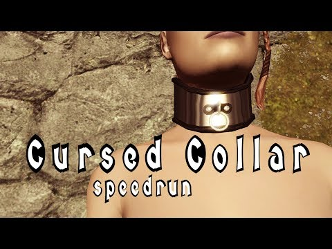 Skyrim - Cursed Loot - Cursed Collar Quest speedrun in 14m40s (with commentary subtitles)