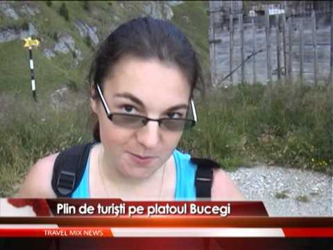 Plin de turişti pe platoul Bucegi – VIDEO