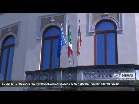 COVID-19, IL FOCOLAIO FELTRINO SI ALLARGA: SALE A 9 IL NUMERO DEI POSITIVI | 30/06/2020