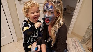Tydus DOES MOMMY'S MAKEUP!!