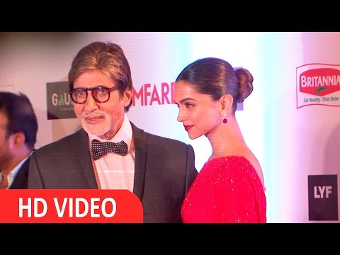 Deepika Padukone & Amitabh Bachchan At Filmfare Awards 2016