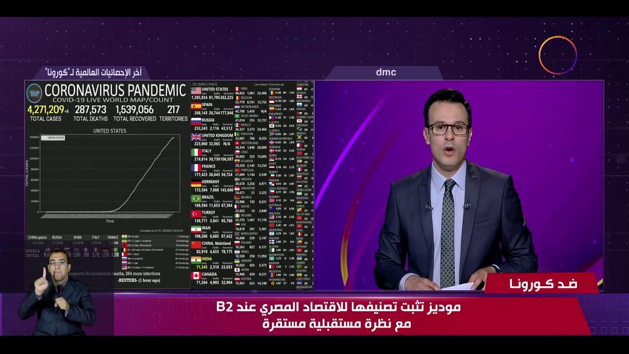 نشرة ضد كورونا - موديز تثبت تصنيفها للاقتصاد المصري عند B2 مع نظرة مستقبلية مستقرة