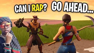 I Matched With A RAPPER and he FREESTYLED For Me on Fortnite! (and it was hilarious)