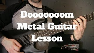 How To Write Doom Metal Riffs & Songs On Guitar