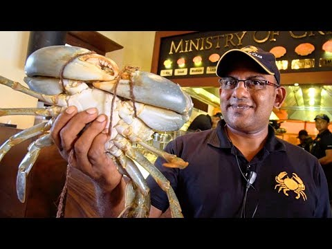 Sri Lanka Food - CRABZILLA!! 1.7 KG Crab + $265 Seafood FEAST at The Ministry of Crab in Colombo!