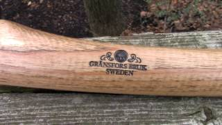 Gransfors Bruk small forest axe, a little TLC out of the box. Field test to come soon!!!!