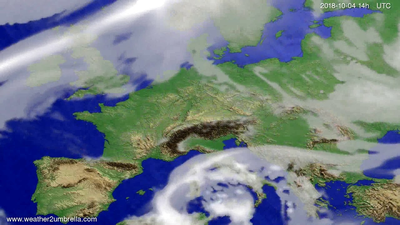 Cloud forecast Europe 2018-09-30