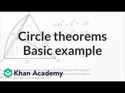 Circle Theorems Basic Example Video Khan Academy