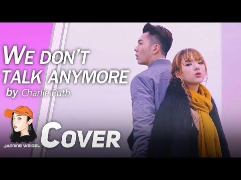 We Don't Talk Anymore - Charlie Puth ft. Selena Gomez cover by Jannine Weigel & HaoRen (видео)