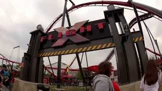 Gurnee (IL) United States  city photo : Six Flags Great America Gurnee Illinois X Flight POV HD GoPro Camera