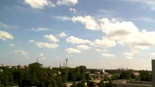 Cumulunimbus timelapse Riga 2011.06.11
