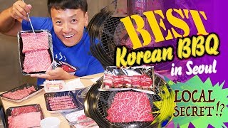THE BEST Korean BBQ in Seoul! BBQ BEEF ALLEY Meat Market | LOCAL SECRET!