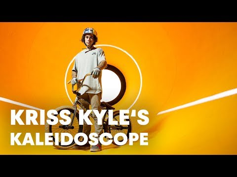 Kaleidoscope See Things Differently BMX Cyclist Kriss Kyle Rides Through a Colorful  MindBending