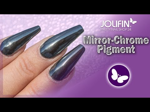 Nageldesign - Jolifin Mirror-Chrome Pigment – black