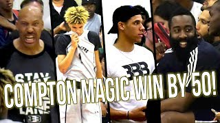 Big Ballers Get SMACKED By Compton Magic w/ James Harden & Lonzo Watching! 50 Point BLOWOUT!