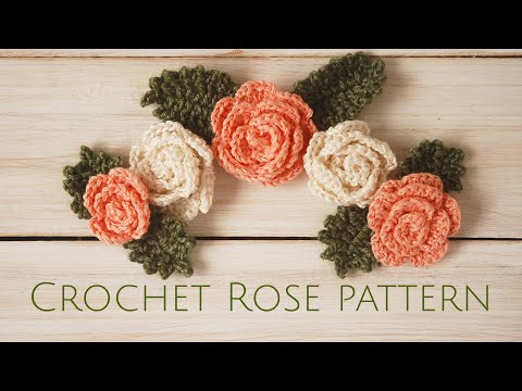Crochet Rose Pattern - Moara Crochet