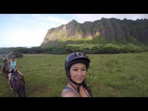 Kualoa Ranch Horseback Riding Tour Hawaii 2016