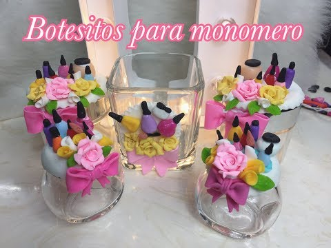 Decorados de uñas - botesitos decorados con esmaltes de porcelana fria
