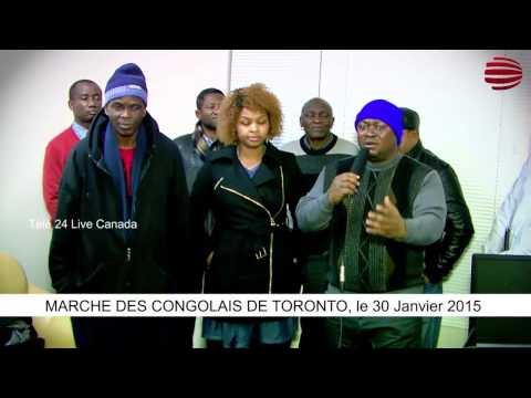TÉLÉ 24 LIVE: MARCHE DES CONGOLAIS DE TORONTO, le 30 Janvier 2015